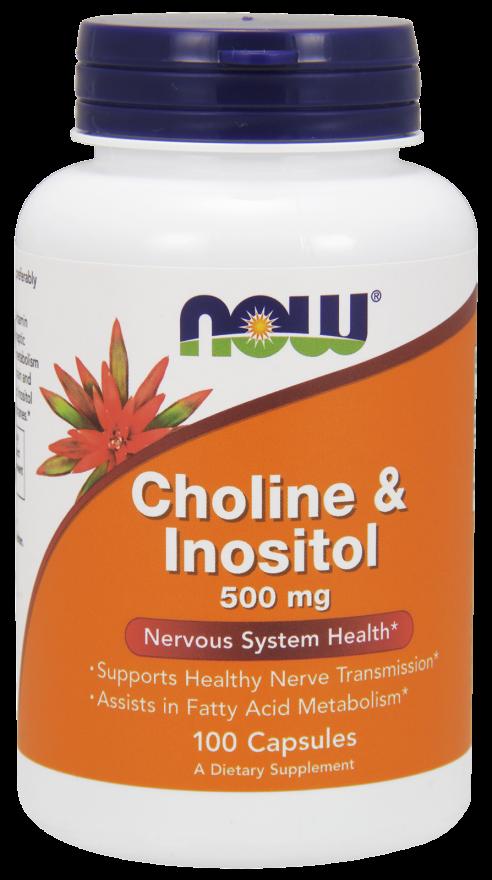 Холин и Инозитол 500 мг 100 капсул