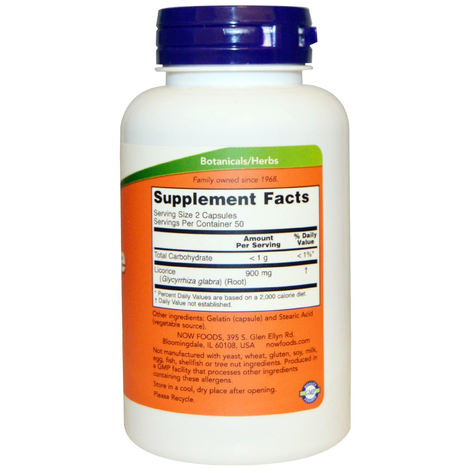 Солодка 450 мг 100 капсул