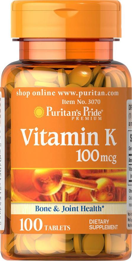Витамин К 100 мкг 100 Таблеток